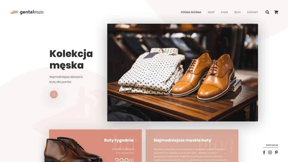 Strona internetowa Gentleman