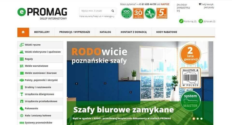 Strona internetowa Epromag